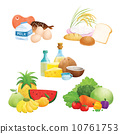 Five food group illustrations 10761753