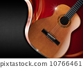 Acoustic Guitar on Luxury Background 10766461