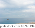 Seascape with boat 10768194