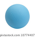 Dodgeball in blue color on white background 10774407
