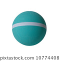 Nice dodgeball with white strip the sporting goods isolated 10774408