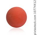 Orange color handball ball isolated on white 10774412