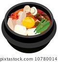 燉豆腐 鍋 鍋裡煮好的食物 10780014