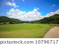 Golf course with blue sky 10796717