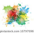 watercolor splash paint 10797096