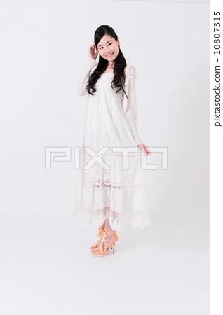 White one piece woman 10807315