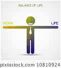 Balance scale between work and life idea,work and life balance c 10810924