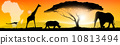 Illustration african landscape 10813494