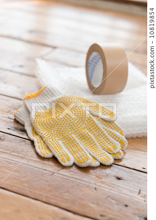 Gloves and adhesive tape 10819854