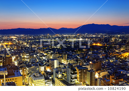 Kyoto City night in Japan 10824190