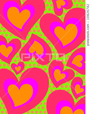 Background Abstract psychedelic heart 10826782