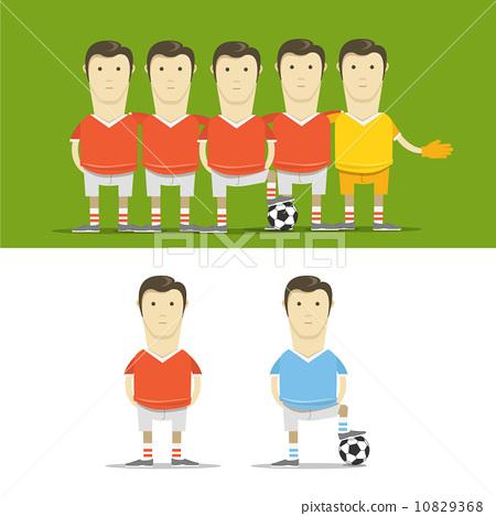 Soccer team clip-art 10829368