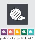 Fittball flat single icon. 10829427