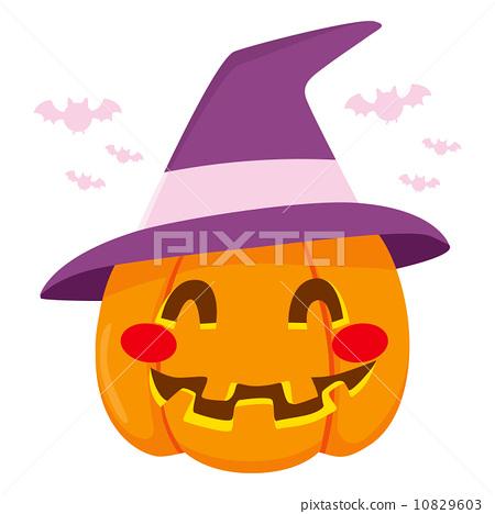 Halloween Witch Hat Pumpkin 10829603
