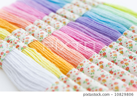 Colorful embroidery thread 10829806