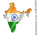 Indian flag map 10833097