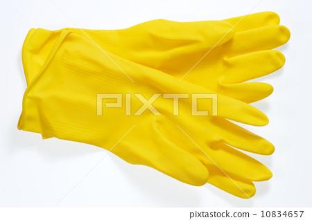 黃色橡膠手套 10834657