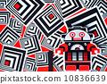 Funny robot in futuristic texture 10836639