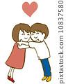 擁抱夫婦 10837580