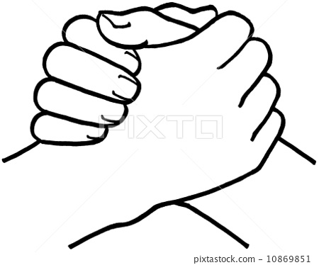 arm wrestling armwrestling grip stock illustration