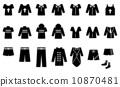 남성 패션 아이콘 세트 10870481