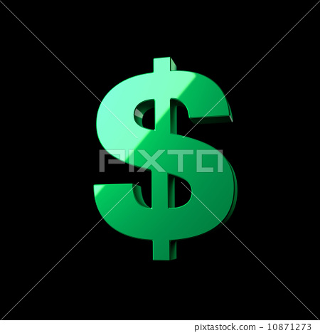 Usa New One Usd Lit Loan Mark Sign Bank Icon Shine Green Black Money S