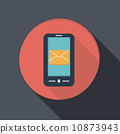 paper flat icon, smartphone, post envelope 10873943