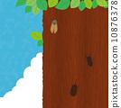 จั๊กจั่นด้วงด้วงต้นไม้เมฆปกคลุม 10876378