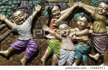 Local Amusement of Thai Children  10880551