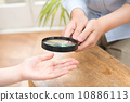 palm reading, magnifier, hand 10886113