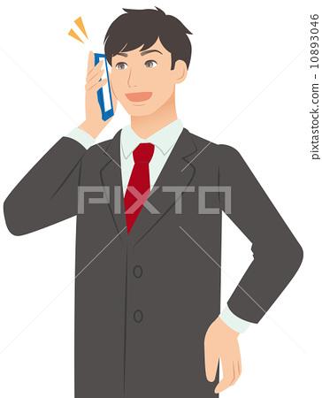 A man talking on a smartphone 10893046