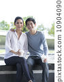 Young Chinese couple relaxing together. 10904090
