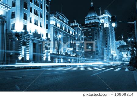 上海城市夜景 10909814
