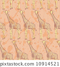 Sketch giraffe, vector vintage seamless pattern 10914521