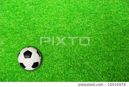 soccer ball on soccer field 10916978