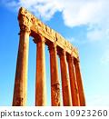 Jupiter's temple columns over blue sky 10923260
