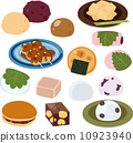 vector, japanese candies, japanese confectionery 10923940