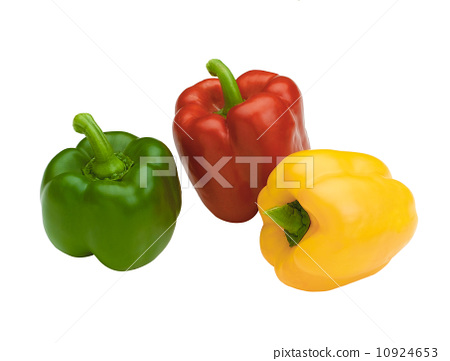 Colorful of sweet peppers isolated on white 10924653
