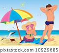 比基尼 海灘 女孩 10929685