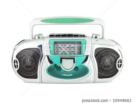 radio tape on white background 10948662