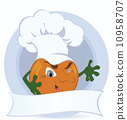 橙色 橘子 橙子 10958707