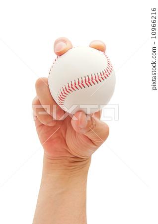 야구 공을 잡는 손 10966216