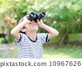 Little boy looking trough a binoculars 10967626