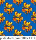 animal goldfish seamless 10971314