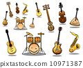 music, instrument, guitar 10971387