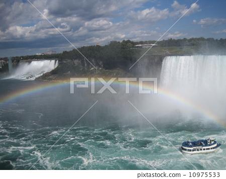 尼亞加拉瀑布和彩虹 10975533