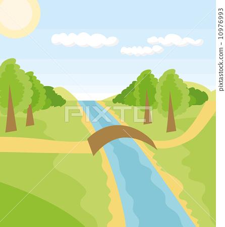 Vector Outdoors Cartoon Landscape 10976993