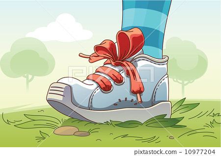 Small Sneaker on the Grass 10977204