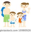 游泳衣的家庭 10980926