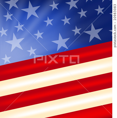 Stock Illustration: Abstract American Flag for Independence Day